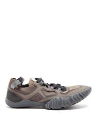 Acne Studios Berun Mesh And Suede Trainers Grey White