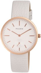 Pilgrim Rose Gold Plated With White Watch White