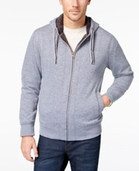 Weatherproof Vintage Men's Full Zip Fleece Hoodie Med Blue