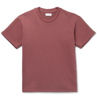 Fanmail Loopback Organic Cotton Jersey T Shirt Red