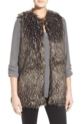 Trouve Women's Trouve Long Faux Fur Vest