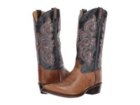 Old West Boots 5508 Tan Canyon Navy Cowboy Brown