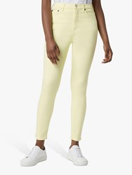 French Connection Mid Rise Skinny Rebound Jeans Lemon Grass