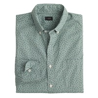 J.Crew Tall Secret Wash Shirt In Tiny Daisy Pale Forest
