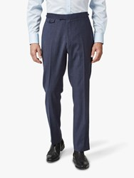 Chester Barrie By Textured Wool Travel Suit Trousers Blue