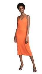 Loyd Ford Satin Slip Dress Orange