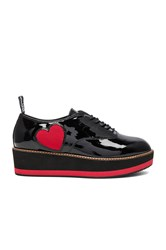 Love Moschino Wedge Heart Creeper Black