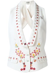 Temperley London Juniper Cross Back Waistcoat White