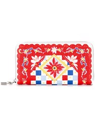 Dolce And Gabbana Dauphine Mambo Print Wallet Red