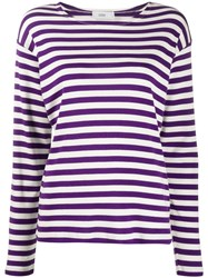 Closed Striped Round Neck Top 60