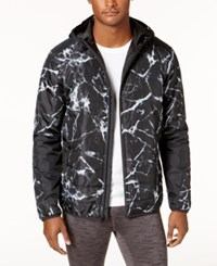 Ideology Id Men's Printed Hooded Jacket Created For Macy's Deep Black
