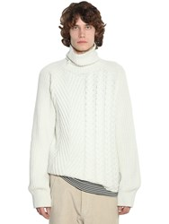 Haider Ackermann Cashmere And Wool Knit Sweater Off White
