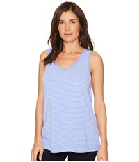 Fresh Produce Pinstripe Siesta Key Pocket Tank Peri Blue Sleeveless