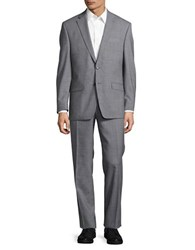 Lauren Ralph Lauren Two Button Wool Suit Set Grey