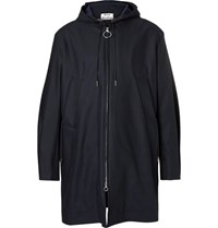 Acne Studios Melt Cotton Hooded Parka Blue
