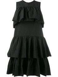 Msgm Ruffled Mini Dress Black