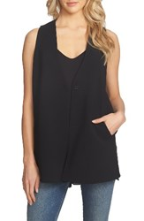 1.State Women's Crepe Vest Rich Black