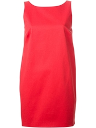 Red Valentino Plunging Back Bow Detail Dress