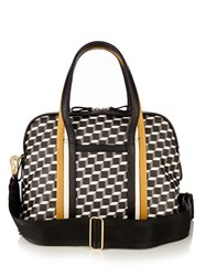 Pierre Hardy Rally Cube Print Coated Canvas Tote Multi