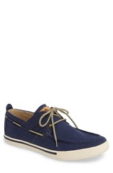 Tommy Bahama Men's Calderon Boat Shoe Navy Canvas