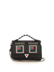 Fendi Double Micro Baguette Square Eyes Cross Body Bag Black Multi