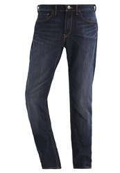 Lee Arvin Regular Tapered Straight Leg Jeans Fast Blue Dark Blue Denim