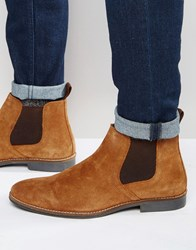 Red Tape Chelsea Boots Tan Suede Tan