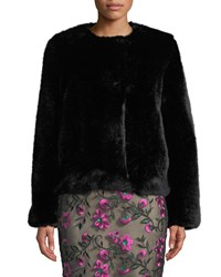 Milly Faux Fur Jacket Black