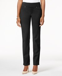 Charter Club Cambridge Pull On Slim Leg Jeans Only At Macy's Saturated Black
