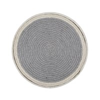 The Braided Rug Company Placemats Set Of 6 Grey Cream