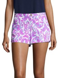 Lilly Pulitzer Adie Printed Shorts Amethyst Beach Bathers