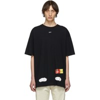 Off White Ssense Exclusive Black Incomplete Spray Paint T Shirt