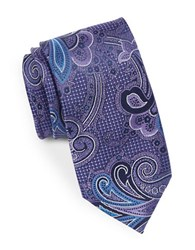 August Silk Paisley Shimmer Tie Purple
