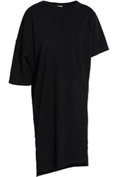 Oak Asymmetric Cotton Jersey Dress Black