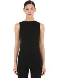 Wolford Aurora Fitted Stretch Top Black