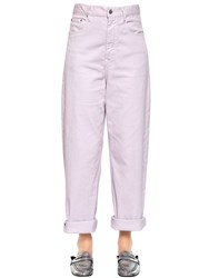 Etoile Isabel Marant 22Cm Stretch Cotton Denim Jeans Light Pink