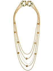 Pierre Cardin Vintage 70'S Layered Long Necklace Metallic