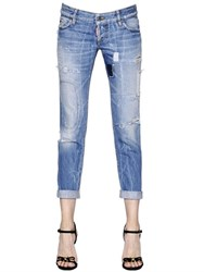 Dsquared Pat Washed And Destroyed Denim Jeans