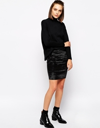Selected Marla Stretch Mini Skirt Black