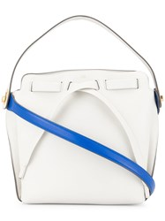 Anya Hindmarch Shoelace Drawstring Shoulder Bag White