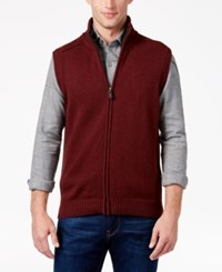 Tricots St Raphael Men's Faux Sherpa Lined Vest Rudy Heather