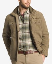 G.H. Bass And Co. Men's Big And Tall Zip And Snap Dual Pocket Jacket Khaki