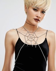 Regal Rose Halloween The Lair Body Harness Silver