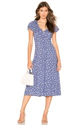 Auguste Mae Devine Midi Dress Blue