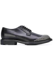 Saint Laurent Derby Studded Shoes Black