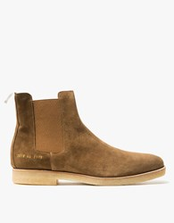 Common Projects Chelsea Boot Suede In Tobacco