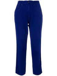 Moschino Vintage High Waist Cropped Jeans Blue