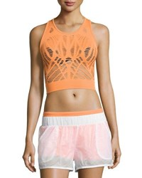 Alo Yoga Vixen Cutout Fitted Crop Tank Orange