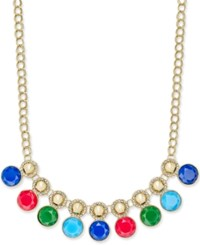 Charter Club Gold Tone Pave And Colored Stone Necklace Only At Macy's Multi