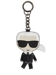 Karl Lagerfeld Iconic Leather Key Chain Black